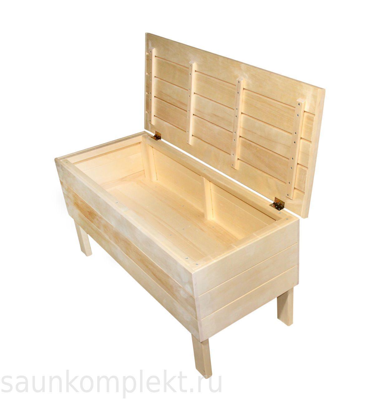 Скамейка для кухни с ящиком своими руками 67